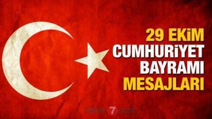 29 Ekim Cumhuriyet Bayramı mesajları   Türk Bayraklı, Atatürk ve resimli 29 Ekim sözleri!