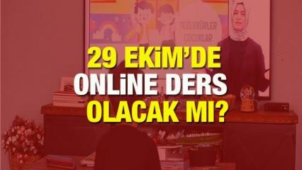 29 Ekim EBA TV'de online ders yapılacak mı? 28 Ekim Çarşamba günü yarım gün mü?