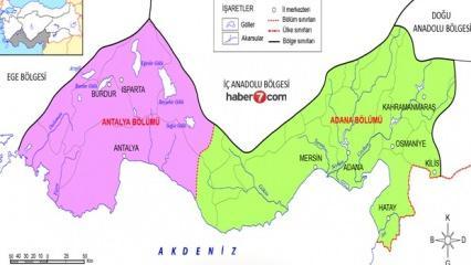 Akdeniz Bölgesi illeri, haritası, özellikleri, dağları, gezilecek yerleri...