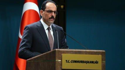 Aliyev'in sözlerine Türkiye'den destek