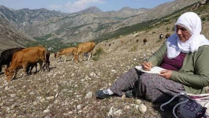 Çiftçilik yapan ilkokul mezunu kadın 2. kitabını yazıyor!