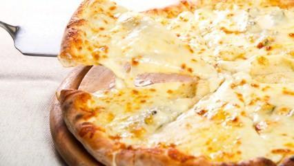 Dört peynirli pizza nasıl yapılır? En kolay dört peynirli pizza yapımı!