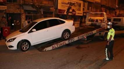 Hatay'daki patlamada hasar gören araçlar çekildi