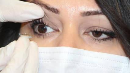 Lens kullanımında koronavirüs uyarısı