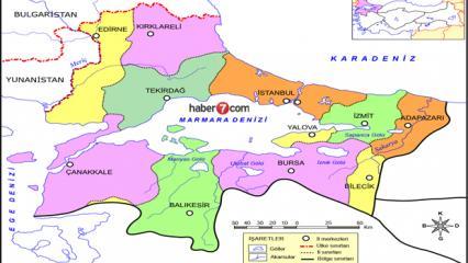 Marmara Bölgesi illeri neler? Marmara Bölgesi haritası, gölleri, ovaları, dağları ve iklimi..