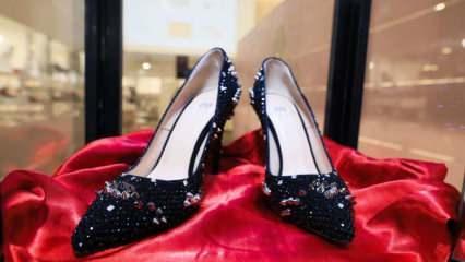 Taş süslemeli ayakkabı 104 bin TL'ye satıldı!