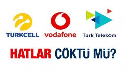 Turkcell, Vodafone, Türk Telekom çöktü mü? Telefon şebekeleri neden çekmiyor?