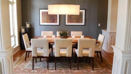 Yemek odalarına yenilik kazandıracak birbirinden şık dekorasyon önerileri