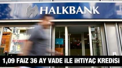 HalkBank 1,09 faiz oranı ile 30 bin TL'ye kadar İhtiyaç Kredisi! Kredi başvuru Ekranı!
