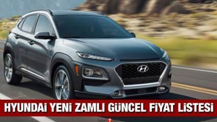 Hyundai sıfır i10, i20, Elentra, Tucson, Kona ve H-100 kamyonet araç modellerine zam yaptı!