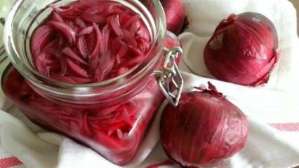 Soğan turşusu nasıl hazırlanır? Kolay ve pratik soğan turşusu tarifi...