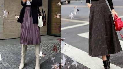 Kışın etek nasıl giyilir? Kışın etek seçerken dikkat edilmesi gerekenler