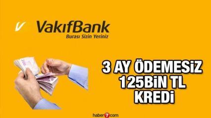 VakıfBank 3 ay ödemesiz 7 farklı ödeme seçeneği ile kredi veriyor! Kredi hesaplama ekranı!