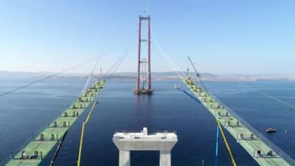 """""""Simgelerin Köprüsü""""nün ilk tabliyesi Çanakkale'ye ulaştı"""