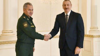 Aliyev, Şoygu'yu kabul etti
