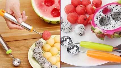 Parizyen kaşığı nedir, nerelerde kullanılır? Parizyen kaşığıyla meyve sepeti nasıl hazırlanır