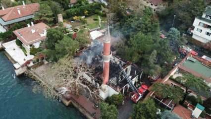 Vaniköy Camii'ndeki yangının çıkış nedeni itfaiye raporunda: Koku 2 saat önce fark edilmiş