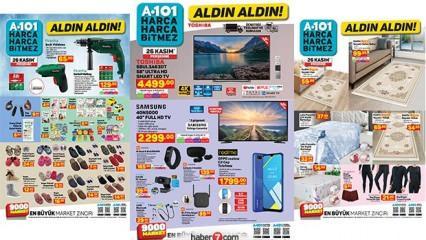 26 Kasım A101 aktüel kataloğu! Bugün Televizyon, akıllı bileklik ve züccaciye ürünlerinde..