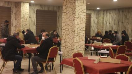 Ağrı'da kafede okey oynayanlara 58 bin 500 lira ceza