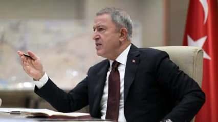 Bakan Akar'dan, Fransız Senatosu'nun kararına tepki
