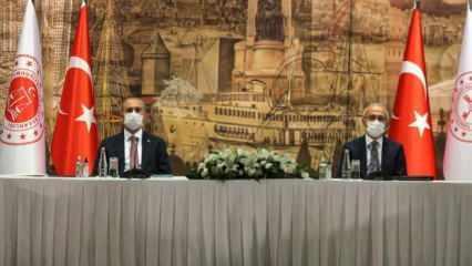Bakan Elvan ve Gül'den Dolmabahçe'de kritik görüşme