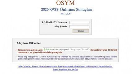 KPSS önlisans sonuçları 2020 açıklandı! ÖSYM sonuç.gov.tr KPSS önlisans sorgulama sayfası!