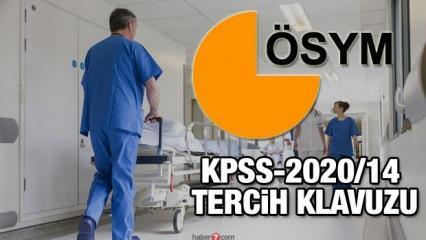 12 bin sağlık personeli alımı başvurusu için son 2 gün! KPSS-2020/14 Tercih Kılavuzu ekranı!