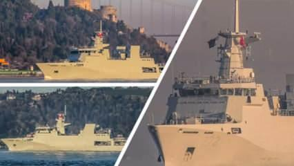 Pakistan savaş gemisi İstanbul Boğazı'ndan geçti! Gemide dikkat çeken detay