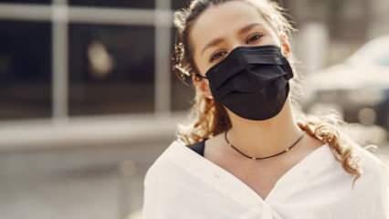 Cerrahi maske kullanırken dikkat! Sivilce ve akne oluşuyorsa...