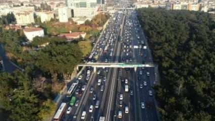 Son dakika haberi: Kısıtlamaya saatler kala İstanbul'da trafik durma noktasına geldi!