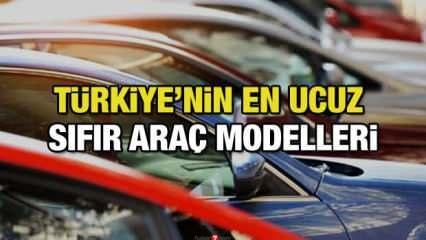 Türkiye'nin satılan en ucuz sıfır araç modelleri: İşte araba modellerinin fiyat listesi!