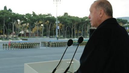 Erdoğan'ın Azerbaycan'da okuduğu şiir, İran'ı rahatsız etti