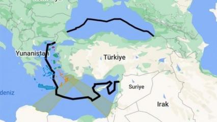 Mavi Vatan haritası Google'da yayınlandı