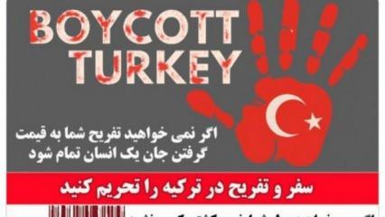 İran sosyal medyasında Türkiye'ye boykot çağrısı