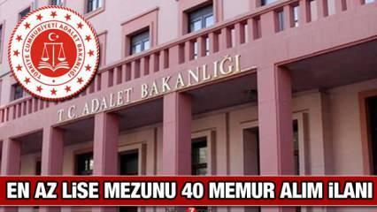 Adalet Bakanlığı KPSS 70 puan ile memur alımı yapacak! Başvuru şartları neler?