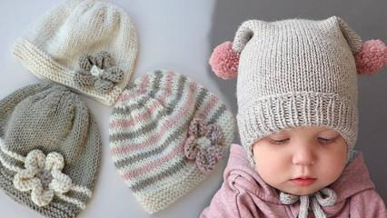 En güzel bebek örgü şapka nasıl yapılır? En şık ve kolay 2021 örgü bere modelleri