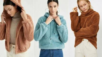 En şık peluş sweatshirt modelleri |2021 peluş sweatshirt fiyatları ve kombin önerileri