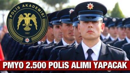 2021 PMYO yılında en az lise mezunu 2.500 polis alımı yapacak! Başvurular ne zaman başlıyor?
