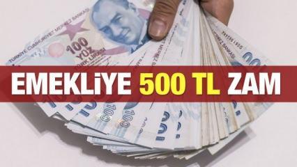 Emekli maaşlarına 500 lira zam beklentisi! 2021 en düşük emekli maaşı ne kadar olacak?