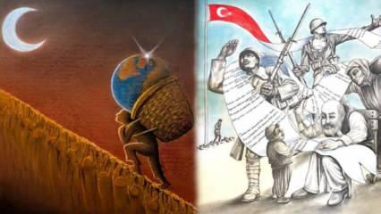 """Esenler Belediyesi """"Akif'in Çizgisi İstiklal Marşı"""" konulu bir karikatür yarışması düzenledi"""