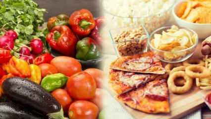 Hangi besinler yaşlanmaya sebep olur, hangileri yaşlanmayı önler?