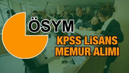 KPSS Lisans mezunları için mülakatsız memur alımı ÖSYM kadrolar ve başvuru şartları (2021)