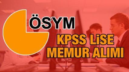 KPSS ortaöğretim (Lise) mezunları için mülakatsız memur alımı ÖSYM kadrolar ve başvuru şartları