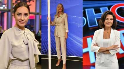 Ana haber spikerlerinin birbirinden farklı giyim tarzları!