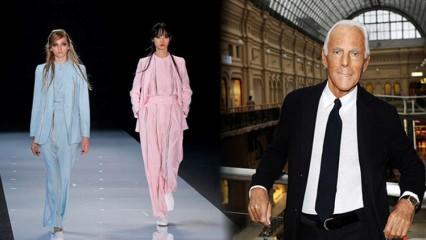 Giorgio Armani 2021 yılının koleksiyonunu görücüye çıkardı! Takımlar 2021 yılına damga vuracak