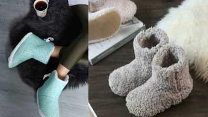 LC Wakiki Panduf koleksiyonu ile kışı sıcacık geçirin! Birbirinden güzel peluş ev botları