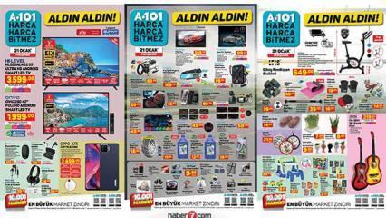 A101 21 Ocak aktüel kataloğu! Spor, züccaciye, tekstil, gıda ve elektronik ürünlerde...