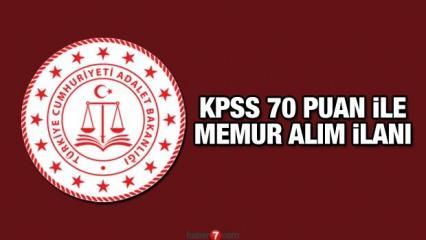 Adalet Bakanlığı KPSS 70 puan ile memur alım ilanı! Başvurular resmen devam ediyor?