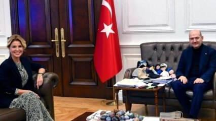 Gülben Ergen, İçişleri Bakanı Süleyman Soylu'yu makamında ziyaret etti