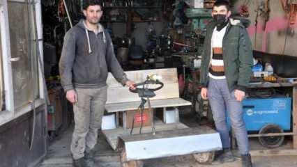 Herkesin çöp diye attığı malzemelerle Hakkarili kardeşler elektrikli araç yaptı!